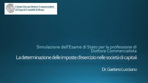 Simulazione Esame di Stato - Determinazione Ires